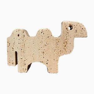 Escultura italiana brutalista de camello de Fratelli Mannelli para Travertino di Rapolano, años 70