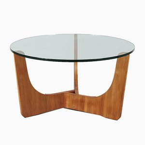 Wood and Glass Coffee Table, 1960s