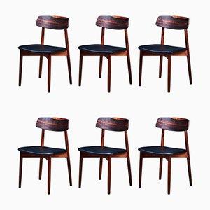 Mid-Century Esszimmerstühle aus Palisander von Harry Østergaard für Randers Møbelfabrik, 6er Set