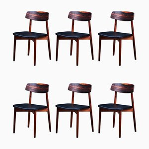 Mid-Century Rosewood Dining Chairs by Harry Østergaard for Randers Møbelfabrik, Set of 6