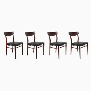 Esszimmerstühle aus Teak von Harry Ostergaard für Randers Møbelfabrik, 1950er, 4er Set