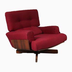 Modell 401 Sessel mit Gestell aus Palisander von M. Taro für Cinova, 1964