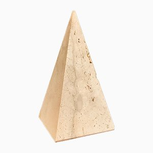 Italian Postmodern Pyramid Sculpture by Fratelli Mannelli for Travertino di Rapolano, 1970s