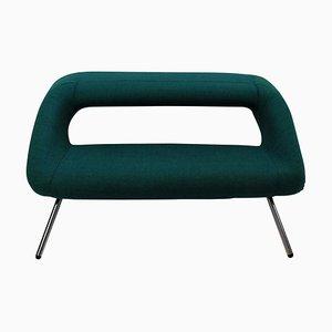 Italienisches Sofa mit verchromten Füßen & Stoffbezug, 1960er