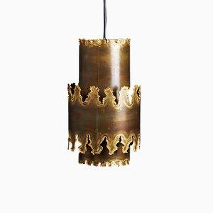 Lampe à Suspension Brutaliste en Laiton par Svend Aage Holm Sørensen, 1960s