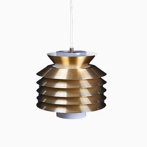 Danish Brass Pendant Lamp, 1960s