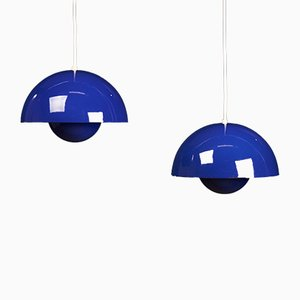 Lampade da soffitto Mid-Century di Verner Panton per Louis Poulsen, set di 2