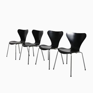 Butterfly Side Chairs by Arne Jacobsen for Fritz Hansen, 1990s, Set of 4