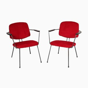 Minimalistischer Beistellstuhl von Rudolf Wolf für Elsrijk, 1950er