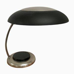 Verchromte deutsche Art Déco Tischlampe, 1960er