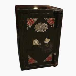 Caja fuerte inglesa antigua de JW Timms