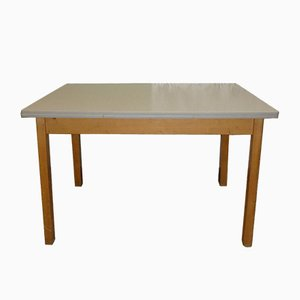 Large Mid-Century Formica Extendable Dining Table