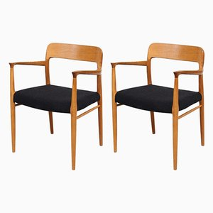 Mid-Century Oak Dining Chairs by Niels Otto Møller for J.L. Møllers, Set of 2