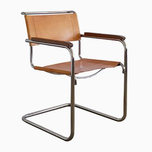 S34 Armlehnstuhl von Mart Stam für Thonet, 1980er