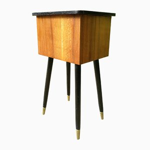 Sewing Box Table With Atomic Legs, 1950s