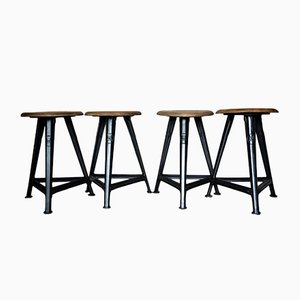 Industrial Stool from Rowac, 1930s, Set of 4