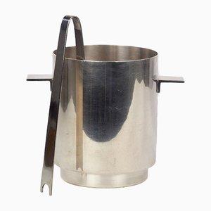 Eiskübel oder Weinkühler mit Zange von Lino Sabattini für Christofle, 1970er, 2er Set