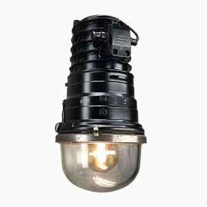 Industrial Black Cast Aluminum Ceiling Lamp from EOW, 1970s