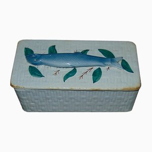 Antique Porcelain Fish Container