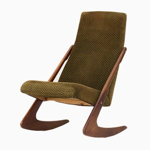 Sedia a dondolo Boomerang di Mogens Kold, anni '60
