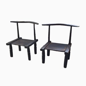 Cote d'Ivoire Side Chairs, 1950s, Set of 2