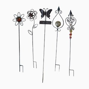 Iron Garden Decorations, 1970s, Set of 5