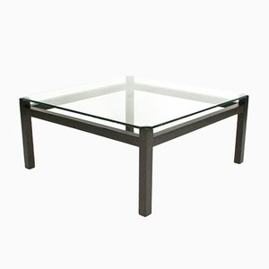 Moderna Black & Glass Coffee Table by Kho Liang Le for Spectrum, 1960s
