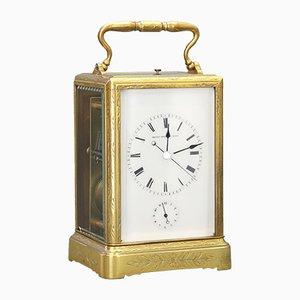 Antike gravierte Uhr von Japy Freres, 1860er