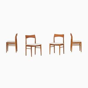 Dänische Esszimmerstühle von Henning Kjærnulf für Vejle Mobelfabrik, 1960er, 4er Set