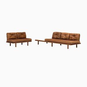 Leather Sofa by Franz Köttgen for Kill International, 1960s
