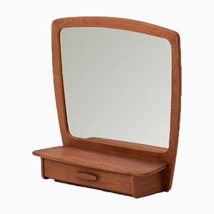 Spiegel mit Schublade, 1950er