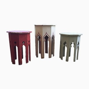 Moroccan Stools, 1950s, Set of 3