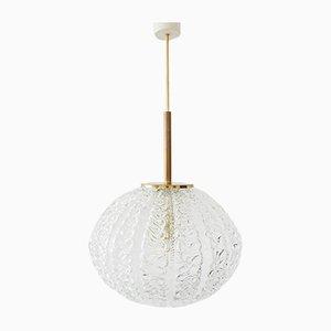 German Glass Ball Ceiling Lamp from Limburg, 1960s