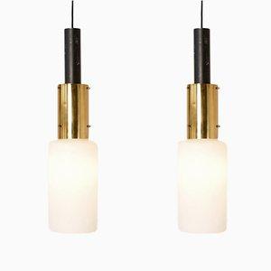 Lámparas de techo italianas de Stilnovo, años 50. Juego de 2