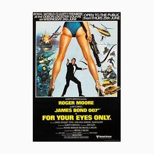 Affiche James Bond For Your Eyes Only par Bryan Bysouth, Bill Gold, 1981