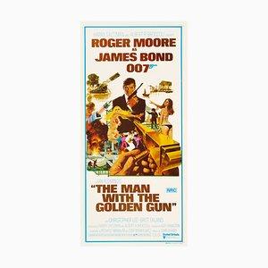 Póster de James Bond The Man with the Golden Gun de Robert McGinnis, 1974