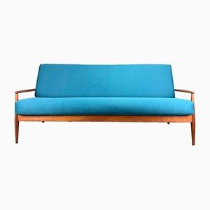 Dänisches 3-Sitzer Sofa mit Gestell aus Teak von Grete Jalk für France & Søn / France & Daverkosen, 1960er
