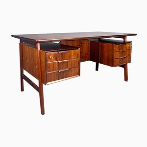 Rosewood Desk by Gunni Omann for Omann Jun, 1960s