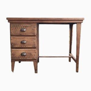 Schreibtisch aus Kiefernholz, 1950er
