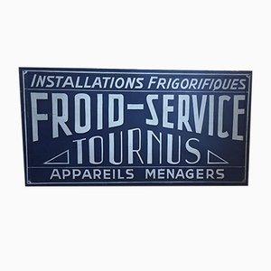 Señalización Tournus francesa grande, años 50