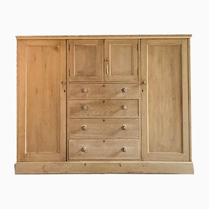Antique Victorian PIne Wardrobe, 1890s