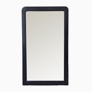 Antique Black Wood-Framed Mirror