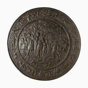 Azulejo italiano antiguo de hierro fundido con adornos