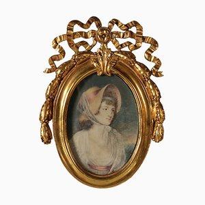 Cadre Vintage avec Cadre Doré et Peinture
