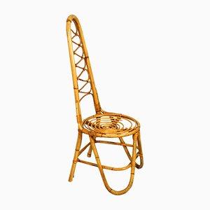 Beistellstuhl aus Bambus, 1960er