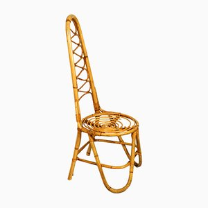 Silla auxiliar de bambú, años 60