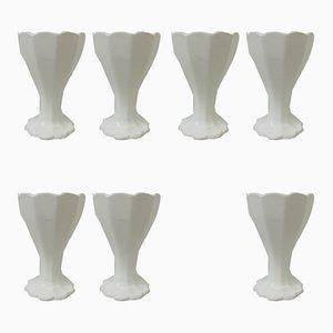 Hueveras antiguas modernistas de cerámica de Adolf Behrmann para Max Roesler. Juego de 7