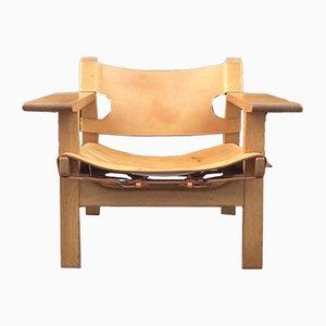 Dänischer Modell Spanish Chair aus Eiche von Børge Mogensen für Fredericia, 1960er