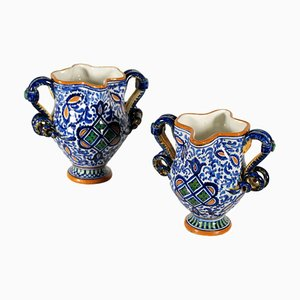 Italienische Vintage Keramikvasen, 2er Set