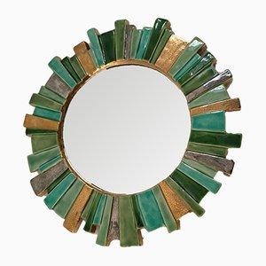 Specchio in ceramica, anni '60